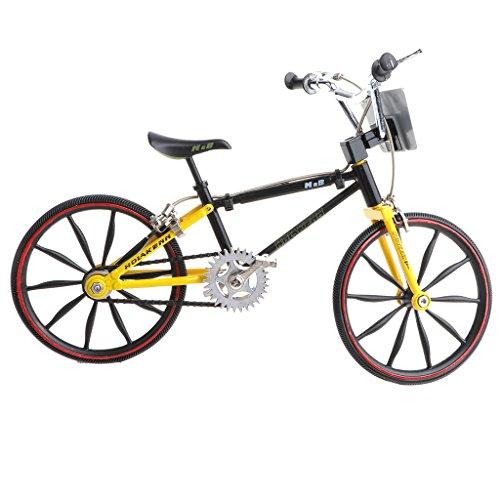 Atv Miniature (Homyl 1/10 Miniature Diecast Alloy ATVs Model Toys Extreme Sports Bicycle Mountain Bike Model Boy Creative Toy Game Gift Yellow)