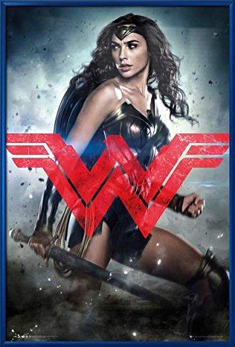 Batman Vs. Superman: Dawn Of Justice - Framed Movie Poster / Print (Wonder Woman / Logo) (Size: 24