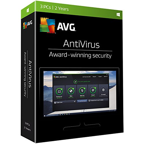AVG Antivirus 2017, 3 PCs, 2 Years, key card