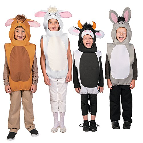 Nativity Animal Costumes (Deluxe Nativity Animal Costume Assortment)