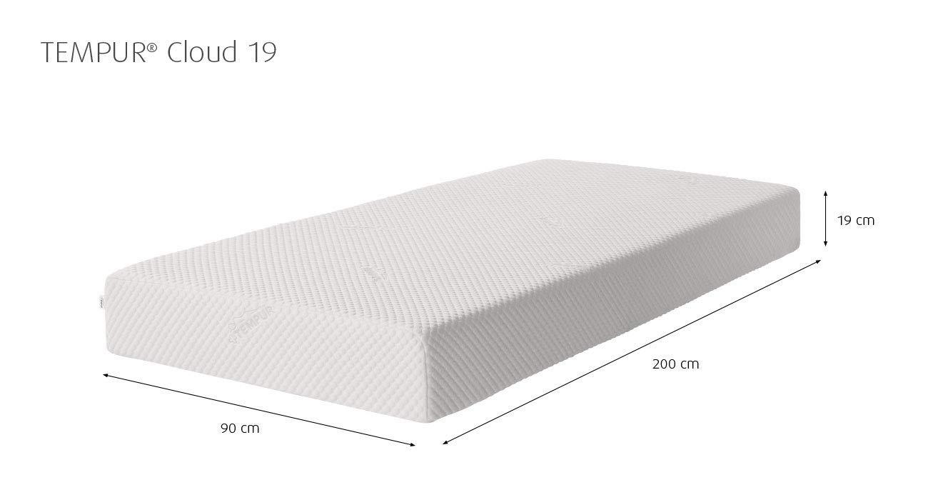 Materassi Memory Foam Tempur.Tempur Cloud 19 Mattress 90 X 200 Amazon Co Uk Kitchen Home