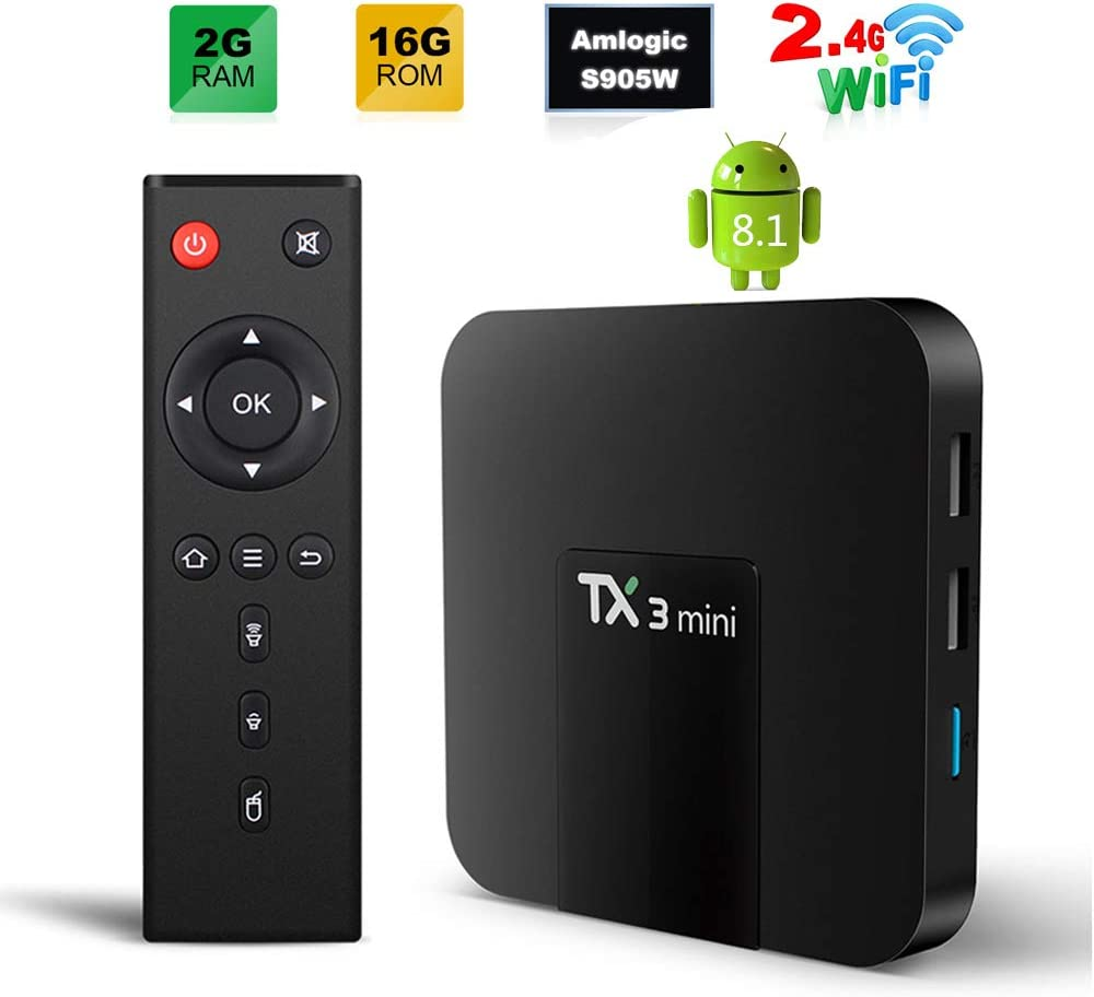 Sofobod TX3 Mini 8.1 Smart TV Box 2GB/16GB 4K TV Amlogic S905W Quad Core H.265 Decoding 2.4GHz WiFi: Amazon.es: Electrónica