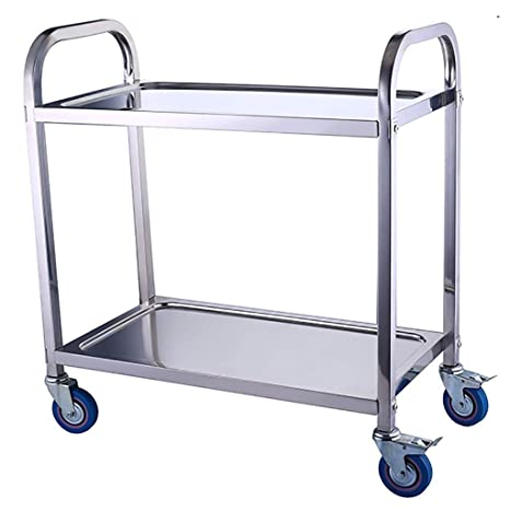Amazon.com: Stainless Steel Storage Cart Large Service Clean ...
