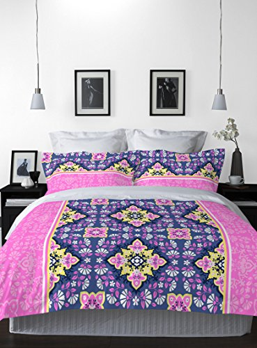 Welhome La-Piazza 130 TC Cotton Double Bedsheet with 2 Pillow Covers – Pink