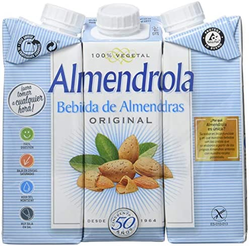Almendrola - Bebida Vegetal de Almendras Original - Caja de 8 packs de 3x250ml: Amazon.es: Alimentación y bebidas
