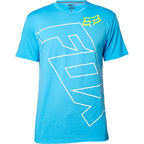 Fox Racing Mens Spyr Tech Short-Sleeve Shirt Medium Surface Blue (Fox Racing Clothing For Men compare prices)