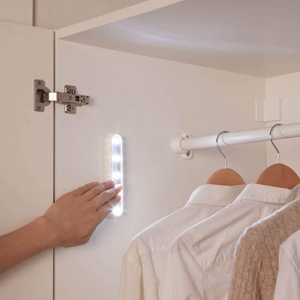 veilleuse LED pour placards Kylewo Barre Lumineuse Tactile /à LED Blanc Froid planchers de Toit Bricolage /à Coller Quelque Part 4 Lampes de pouss/ée /à lumi/ère Tactile LED