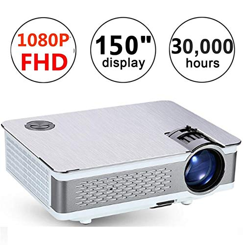 Portable Projector Home Theater Cinema Tv LCD Led Native 1080P Full Hd 4K Smart Projector,Silver from LLVV Video Projectors