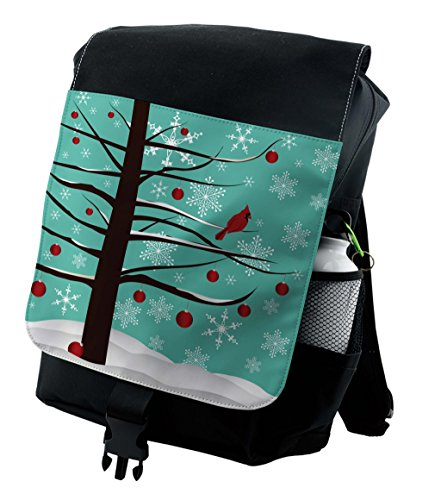 ackpack, Winter Snowflakes Birds, Durable All-Purpose Bag (Cardinal Daypack)