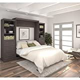 115 in. Queen Wall Bed Kit in Bark Gray