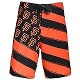 San Francisco Giants Official MLB Diagonal Flag Boardshort - Mens Large