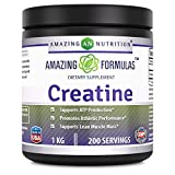 Amazing Formulas Creatine Powder – 1 KG (2.2 Lb), 200 Servings – supports ATP production, Promotes Athletic performance and supports lean muscle mass For Sale