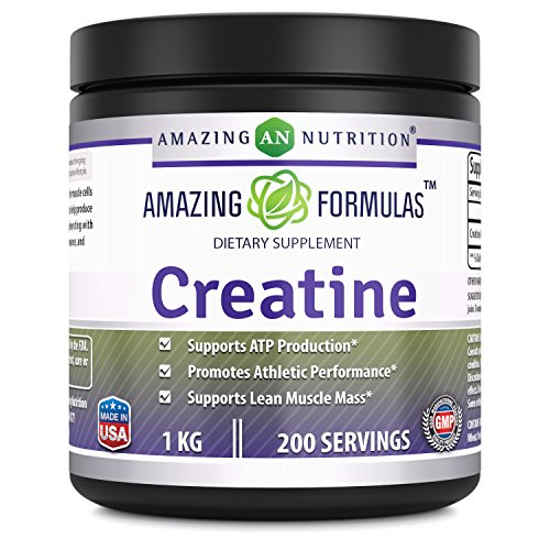 Amazing Nutrition Amazing Formulas Creatine Powder 1 KG (2.2 Lb) 200 Servings - Promotes Athletic Performance