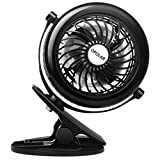OPOLAR Clip on Fan, Powered by USB or 2200mAh Rechargeable...