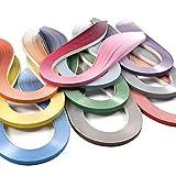 JUYA Paper Quilling Gradient Series Set 10 Colors QP388 (10 Packs Individual, Width: 3mm) (Color: 10 Packs Individual, Tamaño: Width: 3 mm)