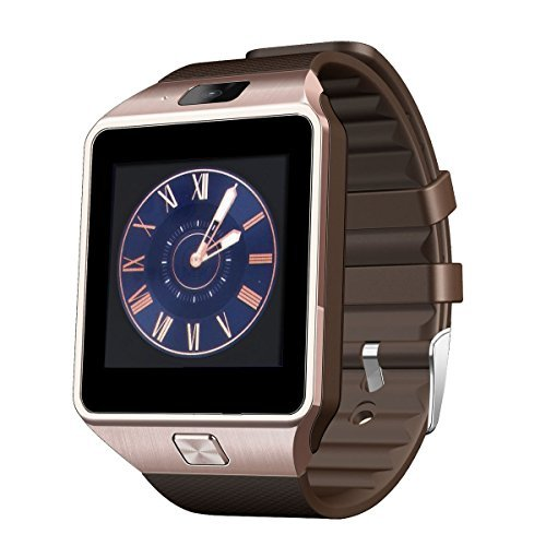 Veezy Gear S Bluetooth Smart Watch Fitness Android iOS Phone Companion with Camera (Bronze)