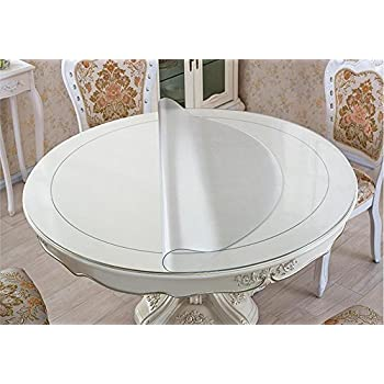 Eco PVC Round Table Protector Round Dining Tabletop Pad Round Furniture  Protector Circle Cover Thick Round