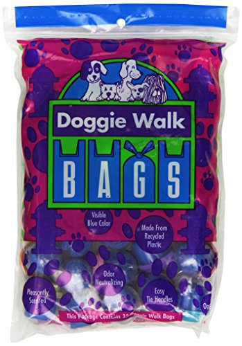 Doggie Walk Bags Classic Baby Powder Bag, Blue, 35 Capsules
