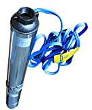 Hallmark Industries MA0414X-7 Deep Well Submersible Pump, 1 hp, 110V, 60 Hz, 33 GPM, 207' Head, Stainless