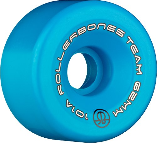 Rollerbones Team Logo 101A Recreational Roller Skate Wheels (Set of 8), Blue, 57mm