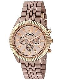 XOXO de la mujer aleación de metal y de cuarzo reloj automático, color: Rose gold-toned (Modelo: xo251)