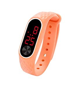 MOSTFA LED Digital Display Bracelet Watch Children's Students Silica Gel Sports Watch Concise Military Electronic Casual