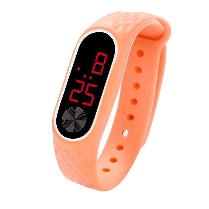Amazon.com: SFE LED Digital Display Bracelet Watch Childrens Students Silica Gel Sports Watch: Sports & Outdoors