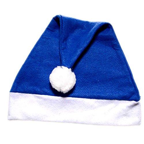 Blue Felt Santa Hat (Blue Santa Claus)