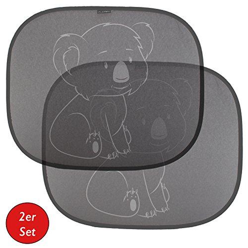 Selbsthaftender Auto-Sonnenschutz | Sonnenblende für Kinder & Babys (2er Set) von Koala® | für Seitenfenster | Schutz vor schädlicher UV-Strahlung