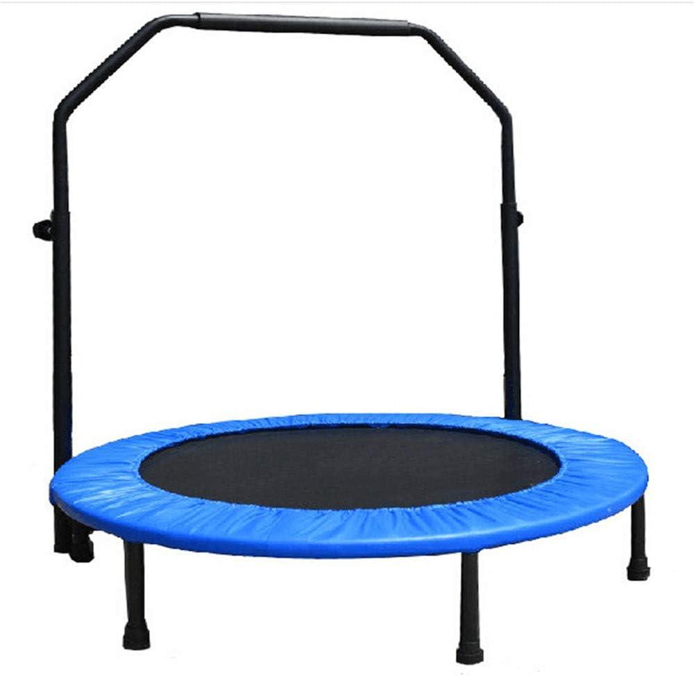 Cama el/ástica Fitness para Ejercicio Corporal,Peso m/áximo 130 kg Skiout Plegable Trampol/ín Fitness con pasamanos y Funda Acolchada de Seguridad