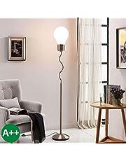Lampada da terra 'Bado' (Moderno) colore Bianco, in Metallo ad es. Soggiorno & Sala da pranzo (1 luce, E27, A++) di Lampenwelt | lampada da terra