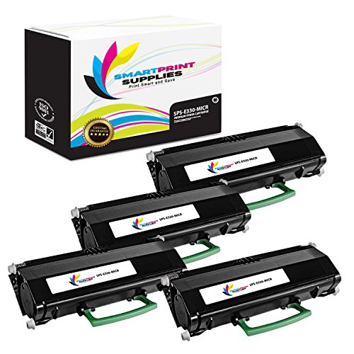 Smart Print Supplies Compatible 12A8305 MICR Black High Yield Toner Cartridge Replacement for Lexmark E230 E232 E234 E238 E240 E330 E332 E340 E342, X340 X342 Printers (6,000 Pages) - 4 Pack