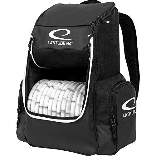 eb5df161d4 Latitude 64 Core Disc Golf Backpack - Holds Up to 20 Discs – Lightweight  and Compact Disc Golf Backpack (Black)
