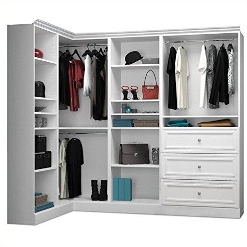 Cheap  Bestar Versatile 90'' 4 Piece Corner Storage Unit in White