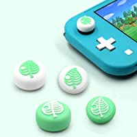 TAACOO Thumb Grip Caps, 4 PCS Animal Crossing Tree Leaf Soft Silicone Joystick Cover for Nintendo Switch & Switch Lite…