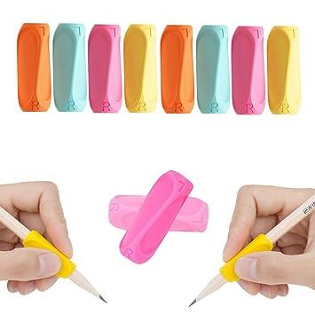 Shulaner Agarre para Lápices, Ergonómico Agarrador de Lápiz Bolígrafo Agarre corrector de escritura para niños, adultos, agarre de silicona para ...