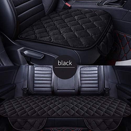 Honcenmax Auto Sitzauflage Sitzbezüge Sitzkissen Autoabdeckung Auto Sitzauflagen Rutschfest Weich Ohne Rückenlehne 2 Vordersitzbezüge Und 1 Rücksitzbezug Auto