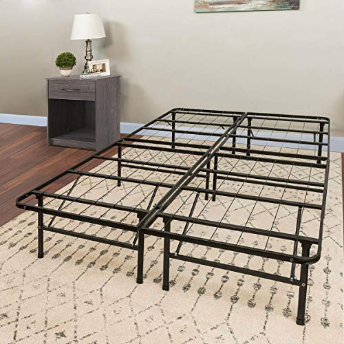 Barton Bed Frame, Mattress Foundation, Platform Bed Frame, Box Spring Replacement, Heavy Duty Frame Foldable Full
