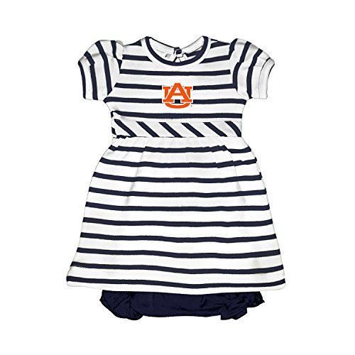 Striped Tiger Mascot (Auburn Tigers NCAA College Newborn Infant Baby Striped Dress (0-3 Months))