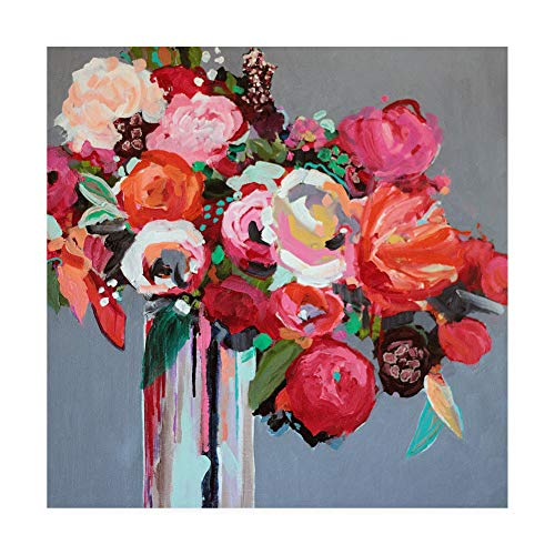 Trademark Fine Art Confetti Pink Floral by Jacqueline Brewe, 35x35 ()
