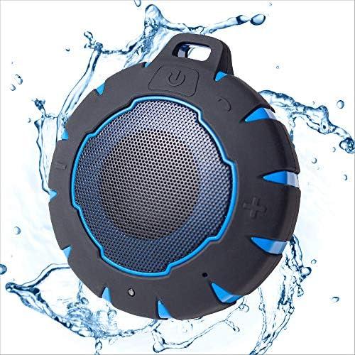 iJoy Bluetooth Bathe Speaker| Premium Waterproof and Wi-fi Floating Speaker | Out of doors Indoor Rugged Waterproof Dustproof Speaker | 7 Hour Playtime | Our Greatest, Waterproof Speaker (Black)
