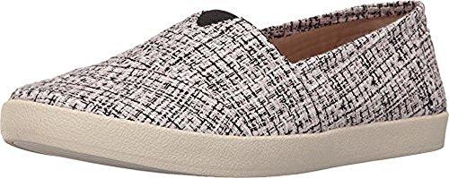 TOMS Women's Avalon Slip-On Black/Pink Boucle Sneaker 5.5 B (M) -
