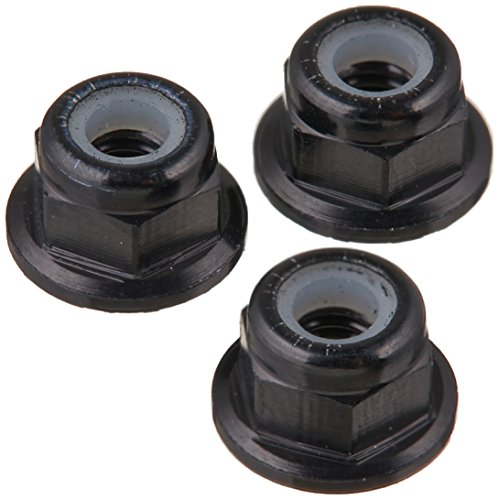 Aluminum Nut Flanged Lock (Team Losi M3 Flanged Aluminum Lock Nuts Black (10))