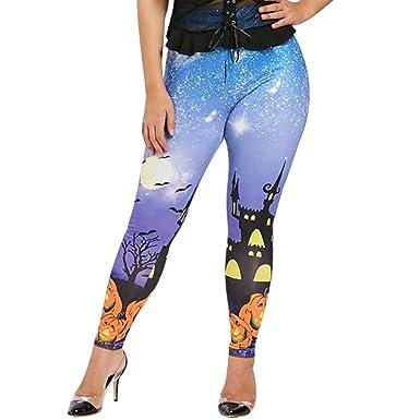 cinnamou Pantalones Mujer, Halloween Casual Leggins ...