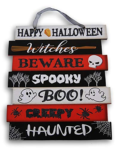 Spooky Halloween Font - Spooky Town Glittery Hanging Halloween Themed