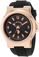 U.S. Polo Assn. Sport Men's USC90006 Rose Gold-Tone and Black Silicone Strap Watch by U.S. Polo Assn. Sport