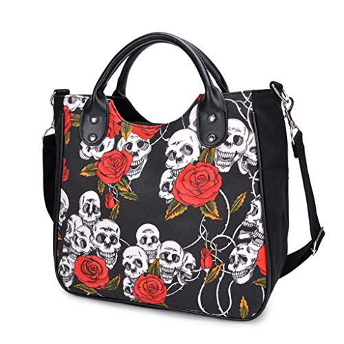Bag Autunno Party Work Canvas Messenger Flower Fashion Inverno Bags Skull qtfxUY