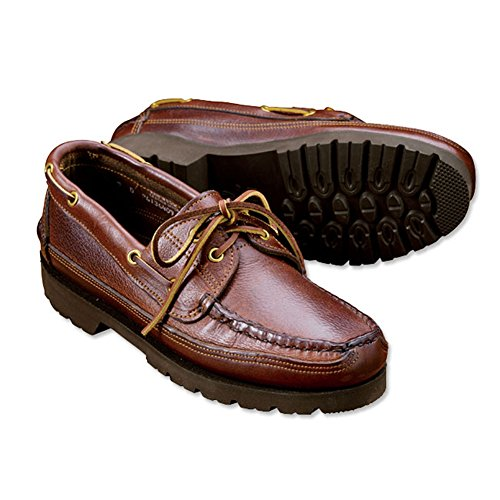Orvis Gokey Lug-sole Camp Moccasin, 12, Width: D Brown Pebble Oil