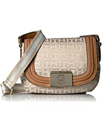 Tommy Hilfiger Violet Jacquard Saddle Bag