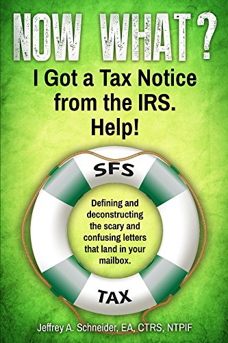 Now What? I Got a Tax Notice from the IRS. Help!: Defining and deconstructing the scary and confusing letters that land in your mailbox. (Life-preserving tax tips, quips & advice series Book 1) ()